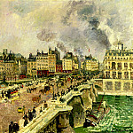 Camille Pissarro - The Pont Neuf, Shipwreck of the Bonne Mere. (1901)