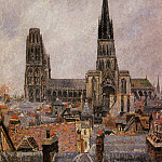 Camille Pissarro - The Roofs of Old Rouen - Grey Weather. (1896)