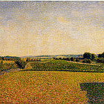 Camille Pissarro - Railroad to Dieppe. (1886)