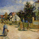 Camille Pissarro - A Street in Pontoise. (1879)