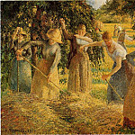 Camille Pissarro - Harvest at Eragny. (1901)