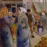 Camille Pissarro - The Market. (1883)