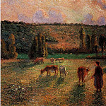 Camille Pissarro - Cowherd at Eragny. (1884)