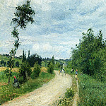 Camille Pissarro - The Auvers Road, Pontoise. (1879)
