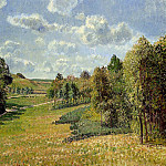 Camille Pissarro - Berneval Meadows, Morning. (1900)