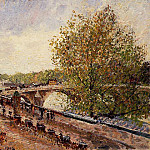 Camille Pissarro - The Pont Royal - Grey Weather, Afternoon, Spring. (1902)