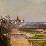 Camille Pissarro - The Tuileries and the Louvre. (1900)