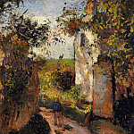 Camille Pissarro - A Peasant in the Lane at lHermitage, Pontoise. (1876)