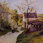 Camille Pissarro - The Large Walnut Tree at lHermitage. (1875)