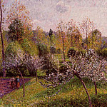 Camille Pissarro - Flowering Apple Trees, Eragny. (1895)