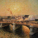 Camille Pissarro - The Pont Boieldieu, Rouen - Sunset. (1896)