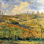 Camille Pissarro - March Sun, Pontoise. (1875)