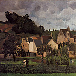 Camille Pissarro - View of lHeritage at Pontoise. (1867)