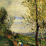 Camille Pissarro - Landscape with a Man Digging. (1877)