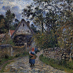 Camille Pissarro - The Village Path. (1880)