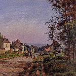 Camille Pissarro - Outskirts of Louveciennes. (1871)