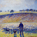 Camille Pissarro - Shepherd and Sheep. (1888)