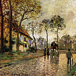 Camille Pissarro - Stagecoach to Louveciennes