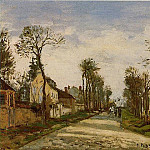 Camille Pissarro - The Road to Versailles at Louveciennes. (1870)