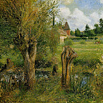 Camille Pissarro - The Banks of the Epte at Eragny. (1884)