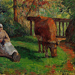 Camille Pissarro - The Cowherd. (1875)