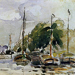 Camille Pissarro - Boats at Dock