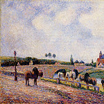 Camille Pissarro - The Pontoise Bridge. (1891)