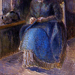 Camille Pissarro - Woman Sewing. (1881)