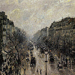 Camille Pissarro - Boulevard Montmartre - Foggy Morning. (1987)
