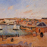 Camille Pissarro - The Inner Harbor, Dieppe - Afternoon, Sun, Low Tide. (1902)