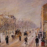 Camille Pissarro - The Outer Boulevards, Snow Effect. (1879)