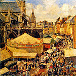 Camille Pissarro - The Fair in Dieppe - Sunny Morning. (1901.jpeg)