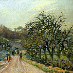 Camille Pissarro - Lane of Apple Trees near Osny, Pontoise. (1874)