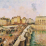 Камиль Писсарро - Pont Neuf, Afternoon, Sunshine. (1901)