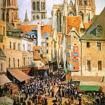 Camille Pissarro - The old market at Rouen