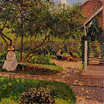 Camille Pissarro - Corner of the Garden in Eragny. (1897)