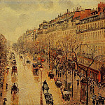 Camille Pissarro - Boulevard Montmartre - Afternoon, in the Rain. (1897)