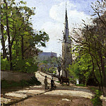Camille Pissarro - St. Stephens Church, Lower Norwood. (1870)