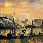 Camille Pissarro - Quay in Rouen - Sunset. (1896)