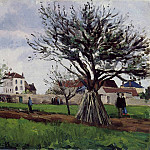 Camille Pissarro - Apple Trees at Pontoise. (1868)