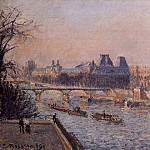 Camille Pissarro - The Louvre, Afternoon. (1902)