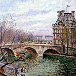 Camille Pissarro - The Pont Royal and the Pavillion de Flore