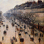 Camille Pissarro - Boulevard Montmartre - Winter Morning. (1897)