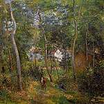 Camille Pissarro - The Backwoods of lHermitage, Pontoise. (1879)