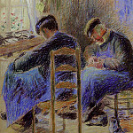 Camille Pissarro - Shoemakers. (1878)