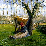 Camille Pissarro - The Cowherd. (1874)
