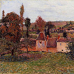 Camille Pissarro - Farm at Basincourt. (1884)