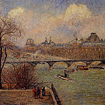 Camille Pissarro - View of the Seine from the Raised Terrace of the Pont-Neuf. (1901)