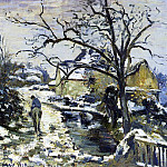 Camille Pissarro - Winter at Montfoucault 2. (1875)