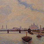 Camille Pissarro - Charing Cross Bridge, London. (1890)